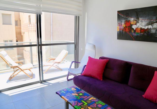 на Tel Aviv - Jaffa - Милая квартира с ПАРКОВКОЙ! рядом рынок Кармель